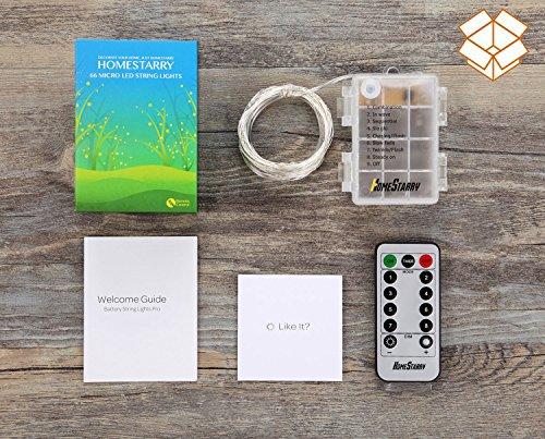 homestarry led string lights battery powered green string. Black Bedroom Furniture Sets. Home Design Ideas