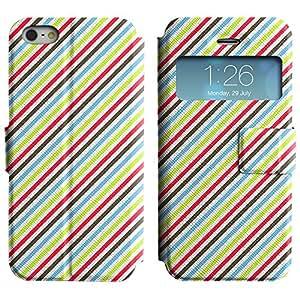 LEOCASE Líneas Diagonales Funda Carcasa Cuero Tapa Case Para Apple iPhone 5 / 5S No.1000842