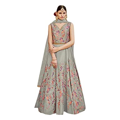 324dad0bf0 Image Unavailable. Image not available for. Color: Long Muslim Net Heavy  Bridal Pakistani Collection Anarkali Dress ...