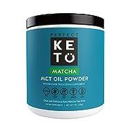 Perfect Keto Matcha Green Tea: Ketogenic Fat Butter Coffee Alternative w Coconut Oil MCT. Ketone Energy on Ketosis Diet Organic Ceremonial Grade Japanese Matcha Latte Powder