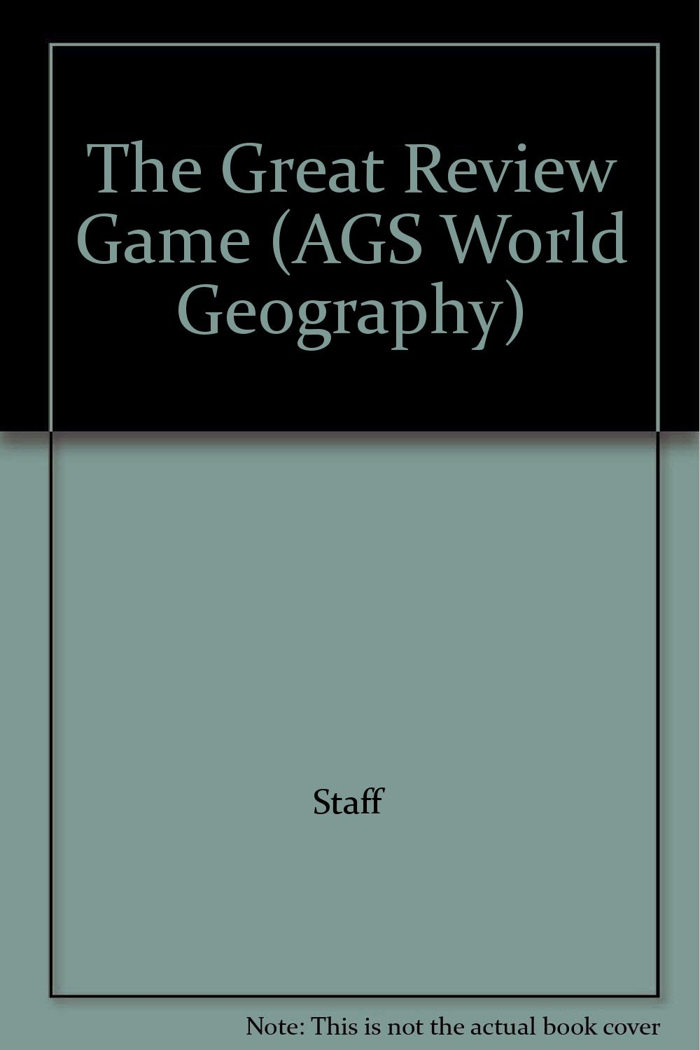 Read Online The Great Review Game (AGS World Geography) pdf epub