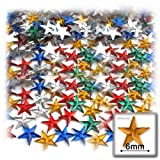 The Crafts Outlet 144-Piece Star Rhinestones, 6mm, Multi Assortment