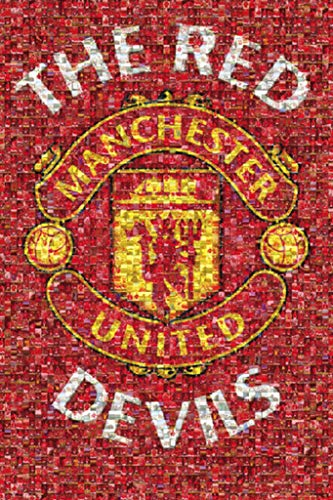 Manchester United FC Red Devils Mosaic Sports Maxi Poster Print - 61x91 cm