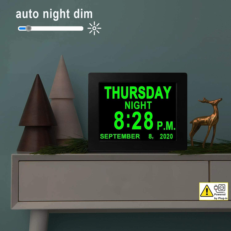 Digital Calendar Alarm Day Clock