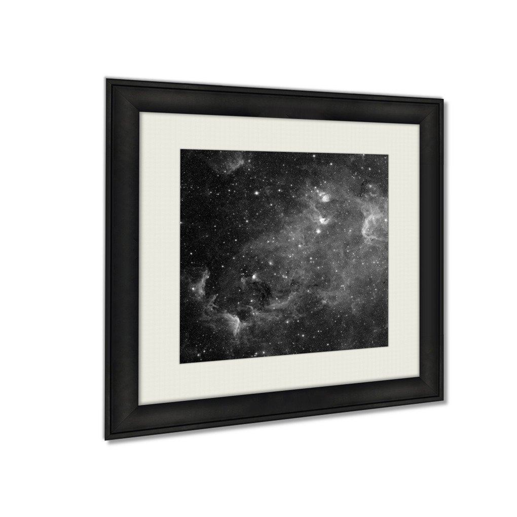 Ashley Framed Prints The North America Nebula Is An Emission Nebula In The Constellation Cygnus, Wall Art Home Decor, Black/White, 34x34 (frame size), AG5826286