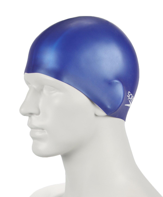 Speedo Mens Plain Moulded Silicone Swim Cap