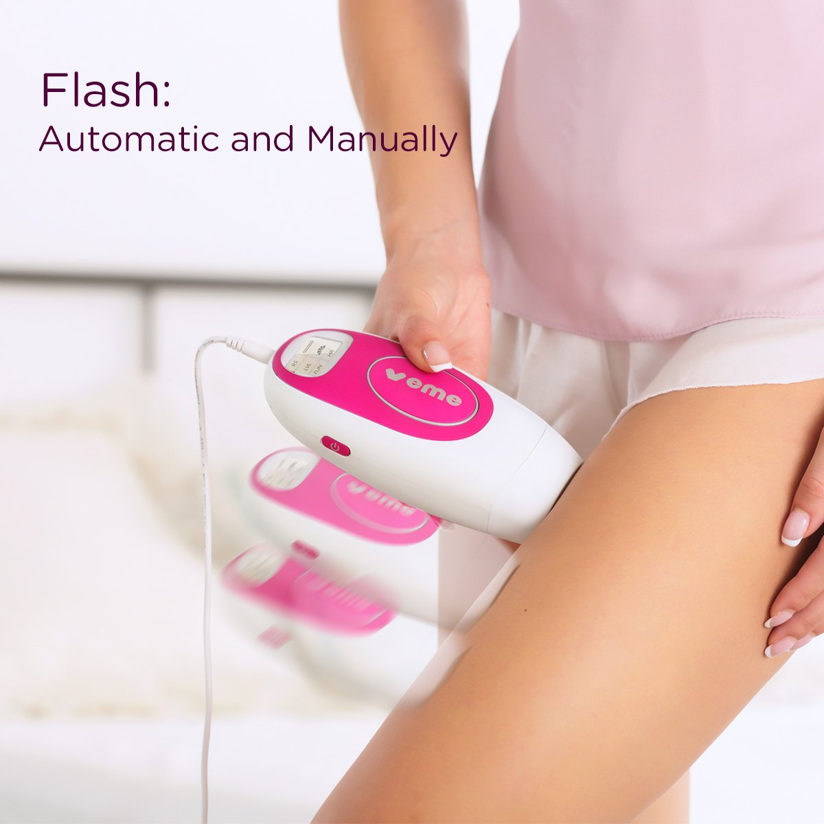 IPL Hair Removal System Veme 500,000 Pulses for Women & Man - Permanent Results on Face and Body