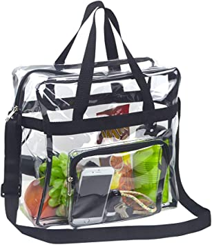 Magicbags Clear Bag Stadium Approved,NCAA NFL/&PGA Security Approved Clear Tote Bag with Multi-Pockets and Adjustable Strap