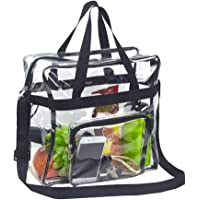 Magicbags Clear Tote Bag Stadium Approved,Adjustable Shoulder Strap and Zippered Top,Stadium Security Travel & Gym Clear…