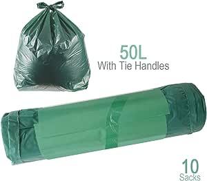 Schone Products (UK) - Bolsas de Basura para jardín con Asas de Corbata, Seguro y práctico para desechar residuos, Basura para jardín y hogar: Amazon.es: Jardín
