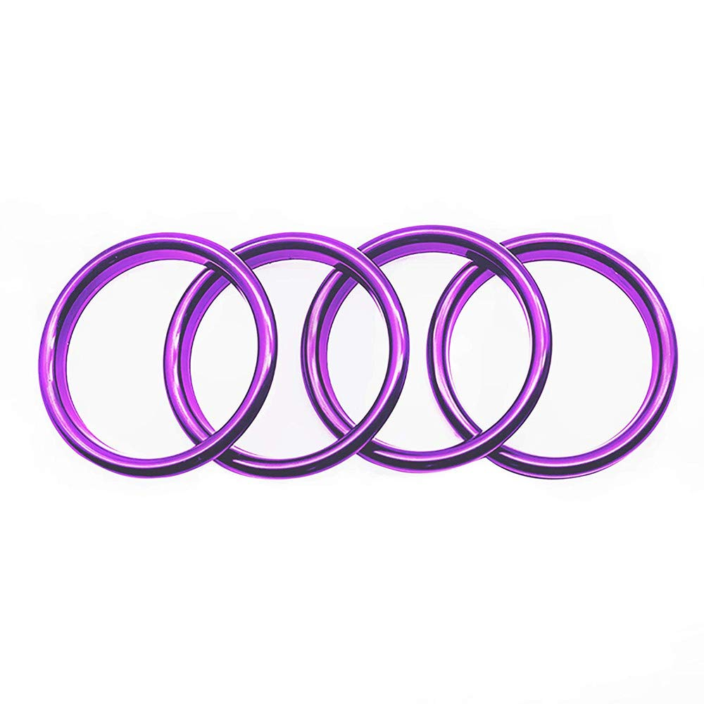 Freenavi Air Conditioning Ring Cover Air Exit Cover Decoration Sticker for Audi A3 S3 2013-2016 / Q2 2017 Accessories, Car-Styling 4pcs (Purple)