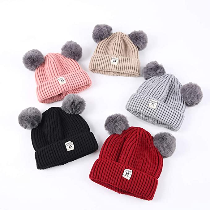 3bbe8574f60 Amazon.com  Baby Cotton Warm Crochet Knitted Beanie Hats