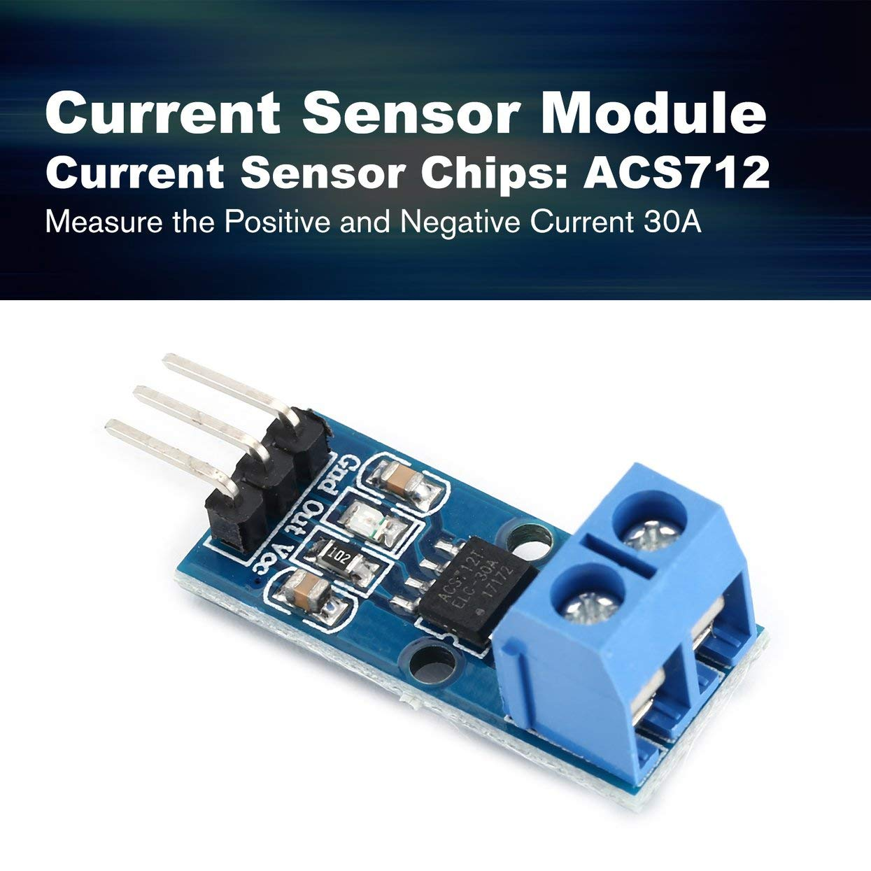 Capteur De Courant De Hall Module Mode ACS712 30A pour Pin 5V Indicateur de Puissance Électronique PCB Panneau DIY Effet Hall Modèle pour Arduino
