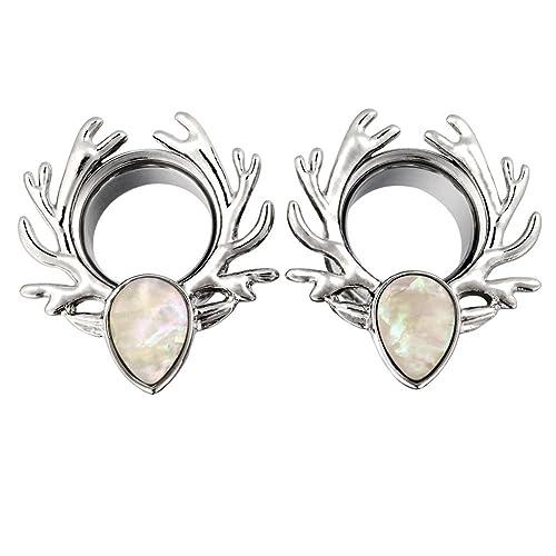 D&M Jewelry Expansor de Oreja de Túnel Elk 2g-5/8
