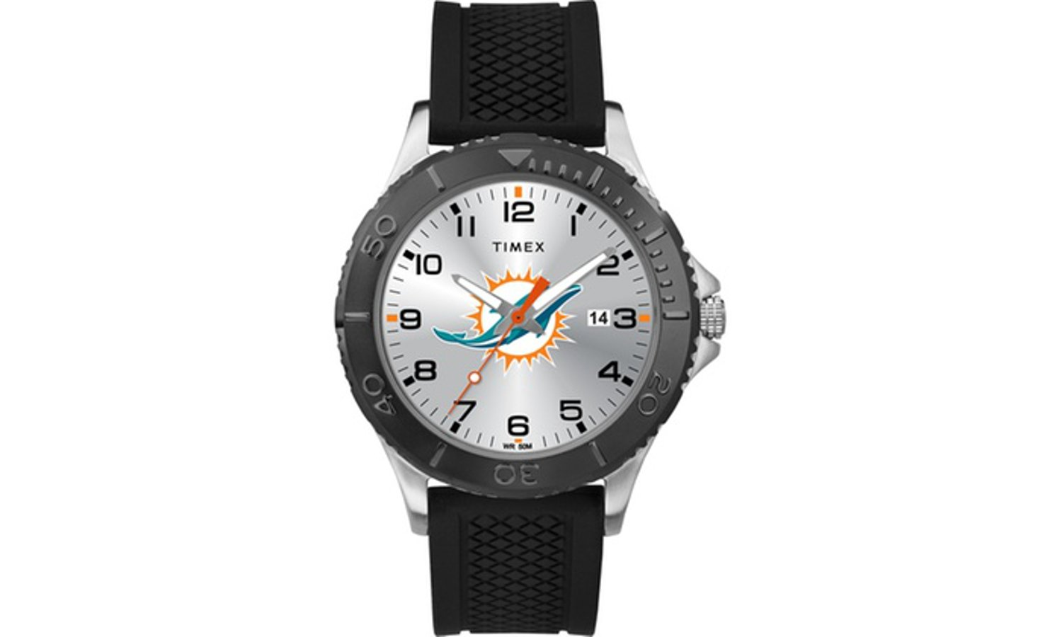NFL Tribute Collection Gamer Black Men's Timex Watch  Miami Dolphins
