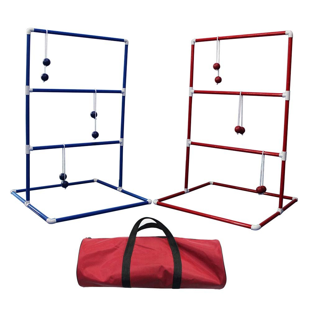 CRESTGOLF Ladder Toss Game with 6 Bolos and Durable Nylon Carrying Case