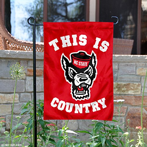 NC State Wolfpack This is NC State Country Garden Flag and Y