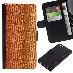 Planetar® Modelo colorido cuero carpeta tirón caso cubierta piel Holster Funda protección Para Apple (5.5 inches!!!) iPhone 6+ Plus ( Cork Dry Cracked Golden Brown )