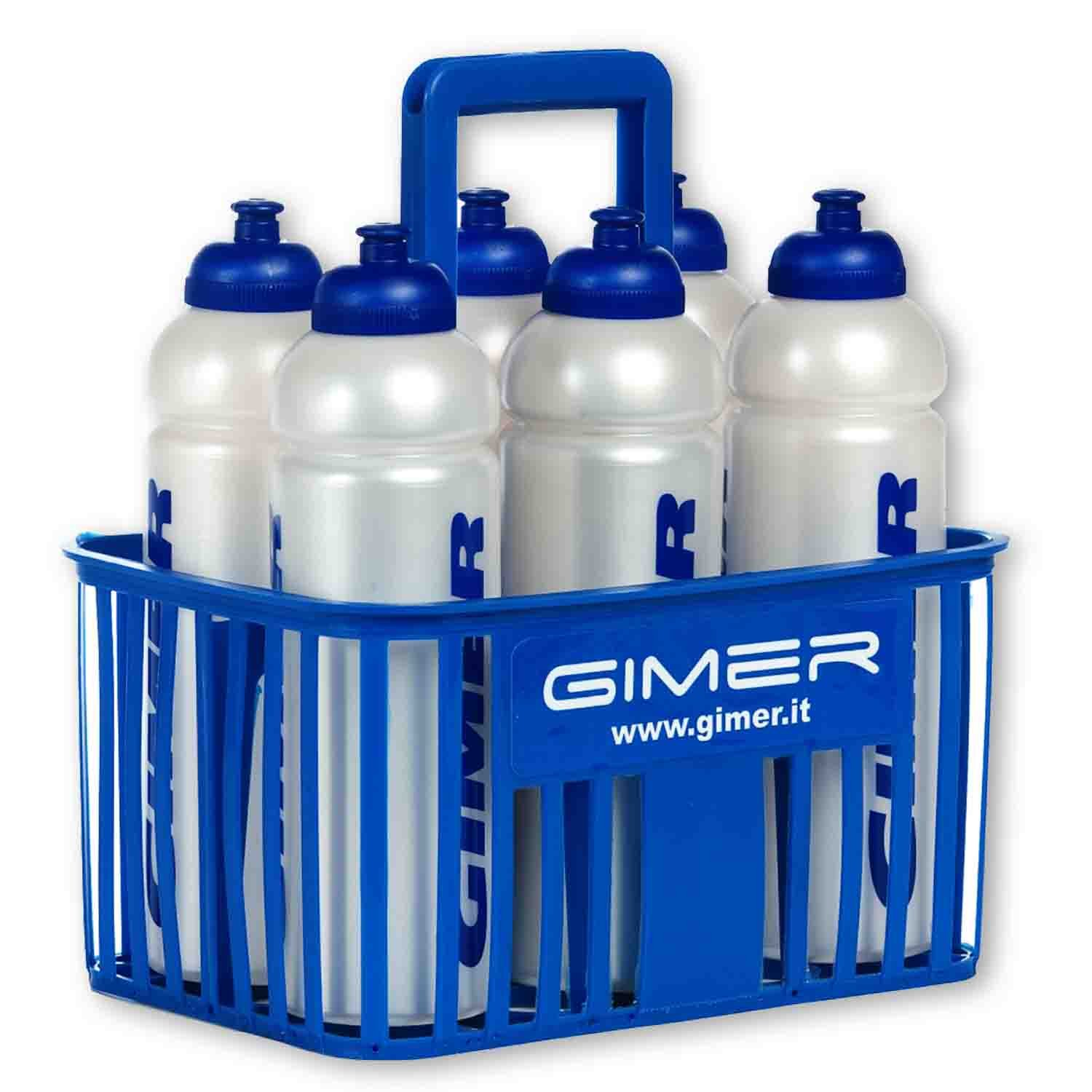 GIMER 10/301 Kit Cestello e 6 Borracce, Olimpico, 35 x 32 x 22 cm
