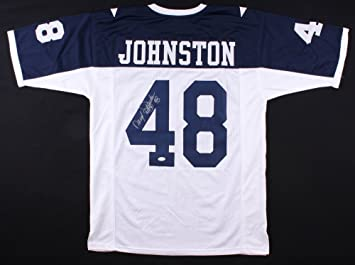 40df27c22 Image Unavailable. Image not available for. Color  Daryl Johnston  84 Signed  Dallas Cowboys Jersey Inscribed quot Moose quot  (JSA COA)