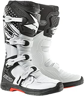 AXO Unisex-Adult MX One Boots (White/Red/Blue, 8)