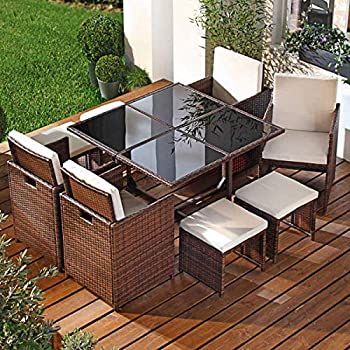Amazon Com Sundale Outdoor Deluxe 9 Pieces All Weather