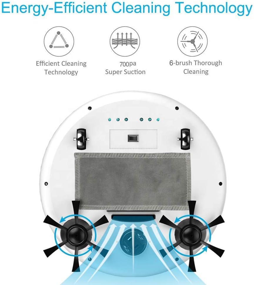 Entièrement Automatique 4-en-1 Smart Robot Aspirateur, 3200pa USB de Charge Balayer Robot Nettoyeur à Sec et Humide Mop désinfection UV, Bleu jianyu (Color : Pink) Blue