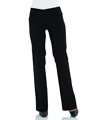 4571d2bf45729 SATINATO Straight Leg Pants for Women Stretch Work Dress Casual Pants