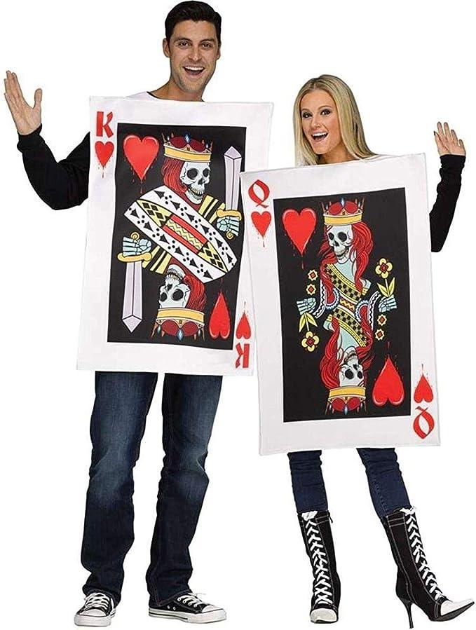 Fun World Men's OneSize Dark King & Queen of Hearts, Multi, OneSize