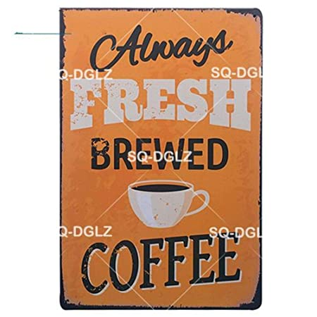 ShAwng 2 Piezas Espresso Menú Metal Sign Chocolate ...