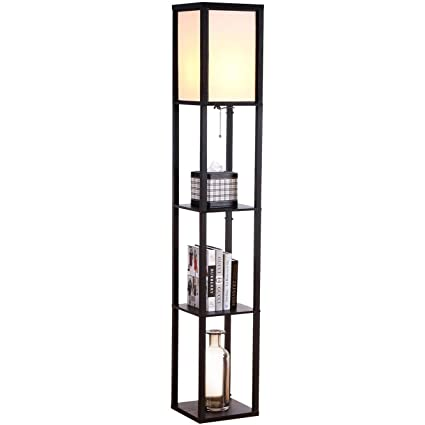 white smartcasual black threshold attached w shade lamp co floor shelves display shelf with