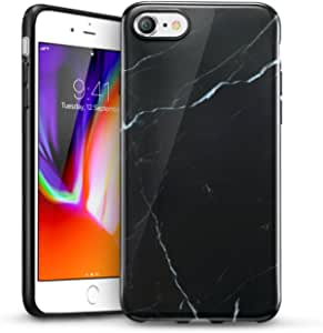 ESR iPhone 8 Case, iPhone 8 Marble Case, Slim Soft Flexible TPU Marble Pattern Cover for The iPhone 8/7(Black Sierra)