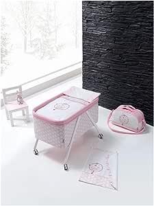 Minicuna Aluminio Oso Luna Rosa: Amazon.es: Bebé