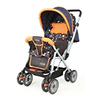 Luvlap Sunshine Baby Stroller Pram (Orange and Black)