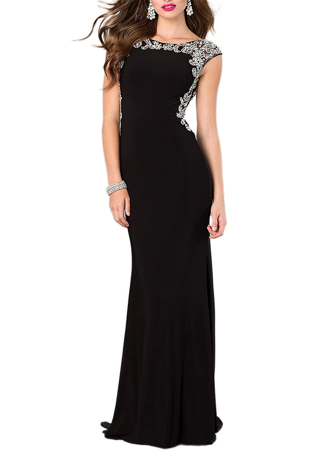 Amazon.com: Miss Chics Long Prom Dresses for Women Evening Gowns ...