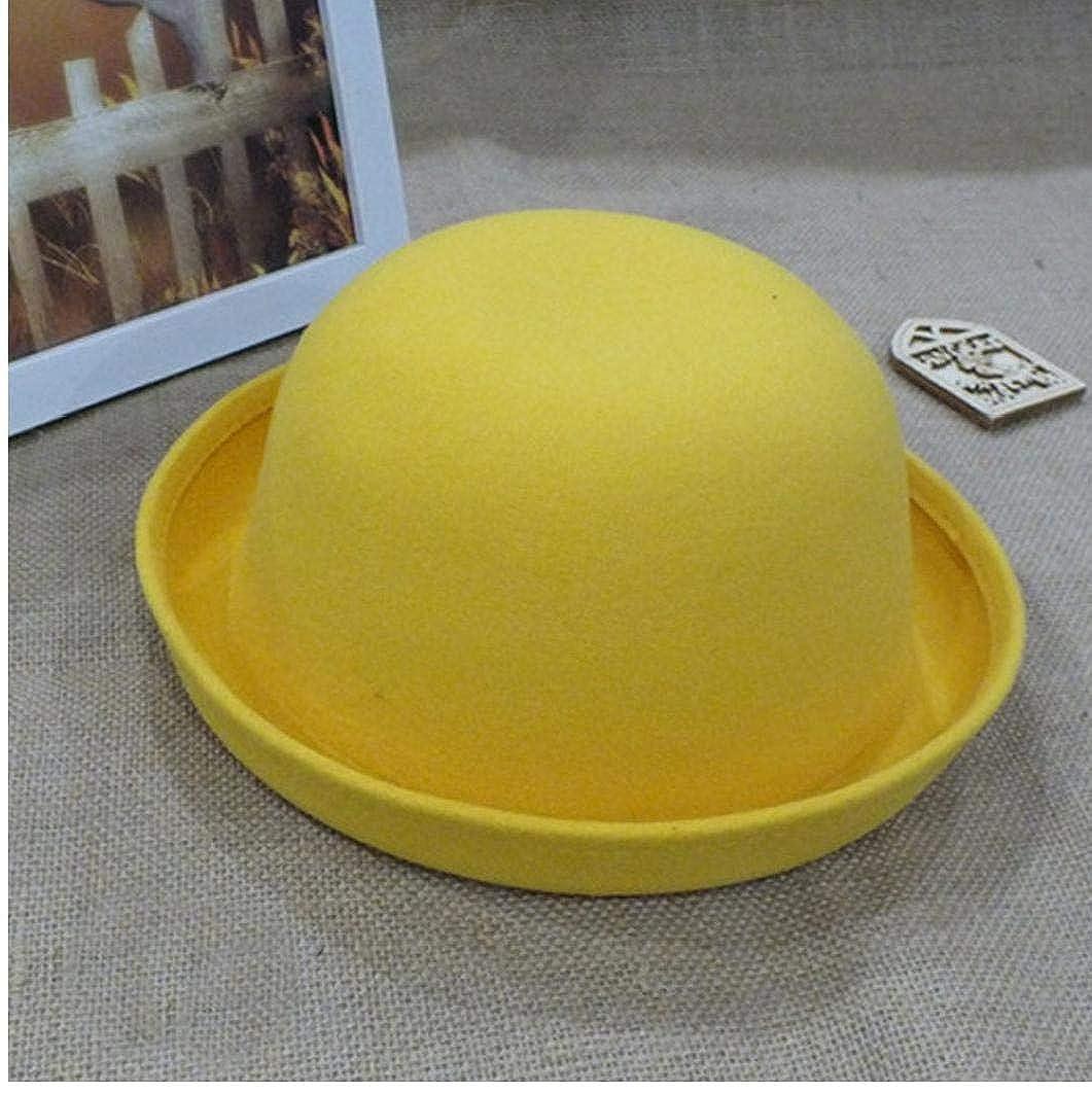 Aisoway Ragazze Bowler Cappelli in Pile Feltro Cap Con Roll-up Brim Stile Vintage Per La Femmina Giovent/ù