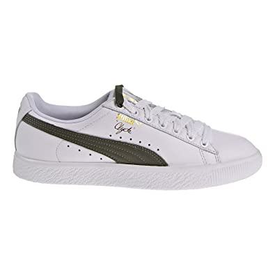 best service f0e60 75766 PUMA Clyde Core Lace Women's Shoes White/Olive/Gold 365737-02