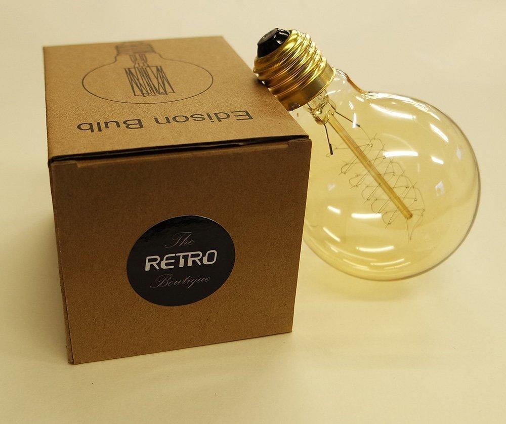 Vollst/ändig Dimmbar Spirale Gl/ühfaden Globe 95mm Vintage Retro Edison Gl/ühbirne 60W E27 The Retro Boutique /®