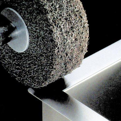 3M Scotch-Brite MU-WL Convolute Silicon Carbide Soft Deburring Wheel - Fine Grade - Arbor Attachment - 6 in Dia 1 in Center Hole - Thickness 2 in - 6000 Max RPM - 13178 [PRICE is per WHEEL]