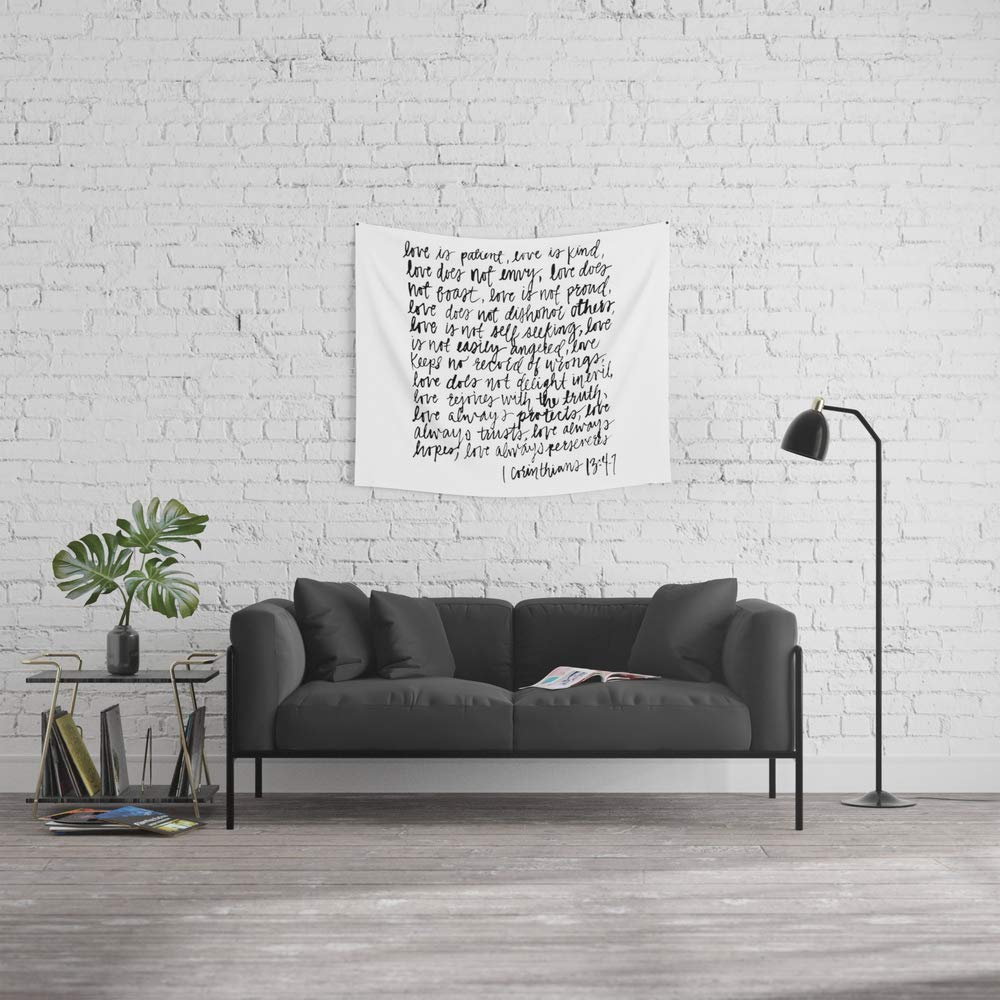 Society6 Wall Tapestry, Size Small: 51'' x 60'', Love is Patient, Love is Kind by stephysays