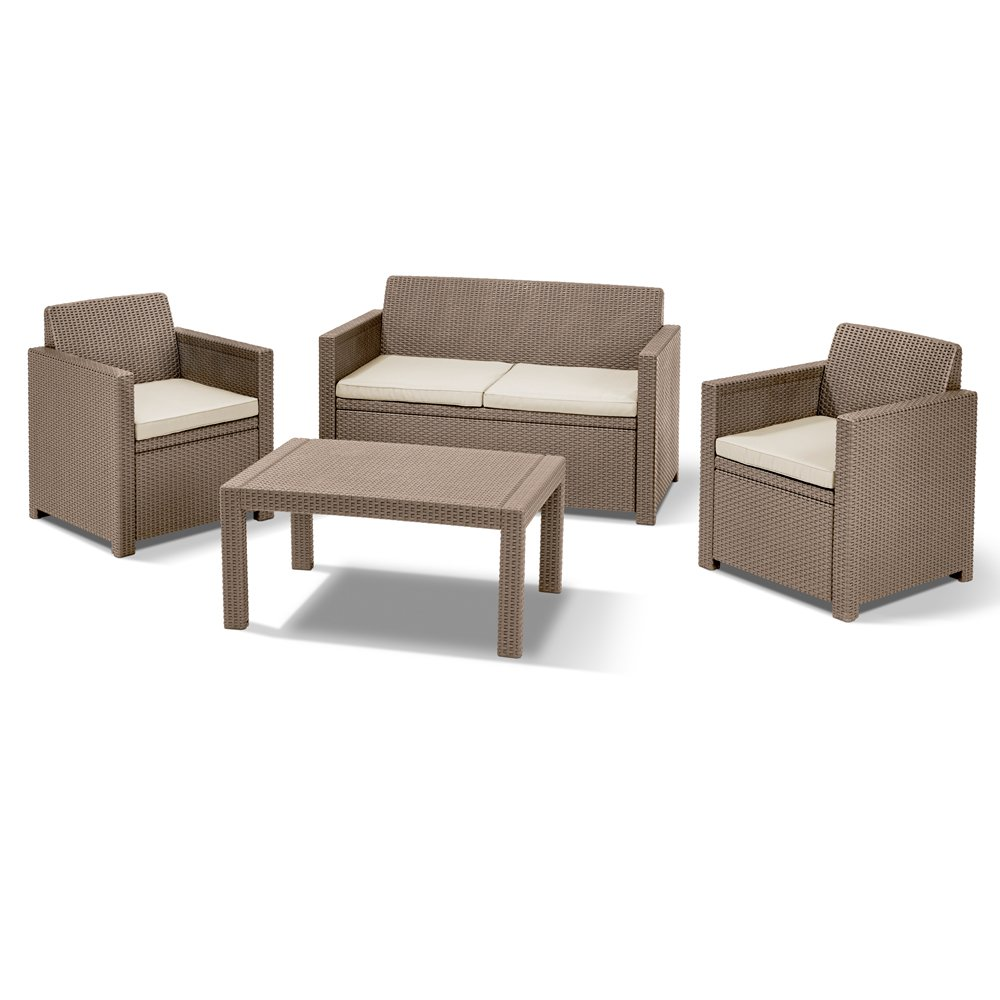 Allibert Lounge / Merano Set, cappuccino / sand, 124 x 80 x 59 cm, 233876
