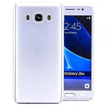 COOVY® Funda para Samsung Galaxy J5 SM-J510 SM-J510F/DS (Model 2016) 360 Grados, Carcasa Ultrafina y Ligera, con Protector de Pantalla, protección de ...