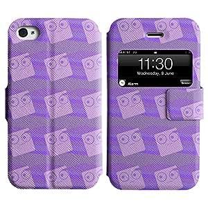 LEOCASE patrón de la caja Funda Carcasa Cuero Tapa Case Para Apple iPhone 4 / 4S No.1004348
