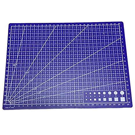 Office & School Supplies Latest Collection Of A4 Grid Lines Cutting Mat Craft Card Fabric Leather Paper Board 30*22cm High Quality