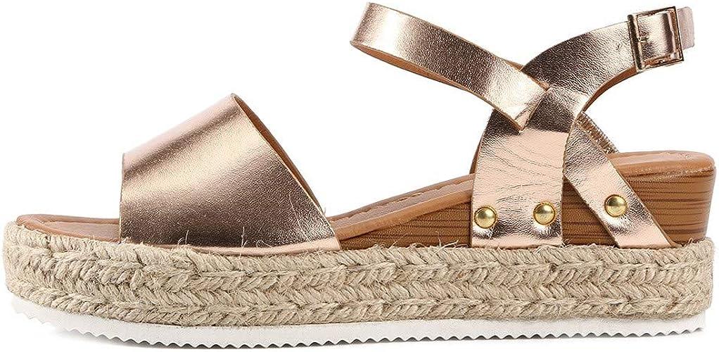 Womens Wedges Sandal Open Toe Ankle