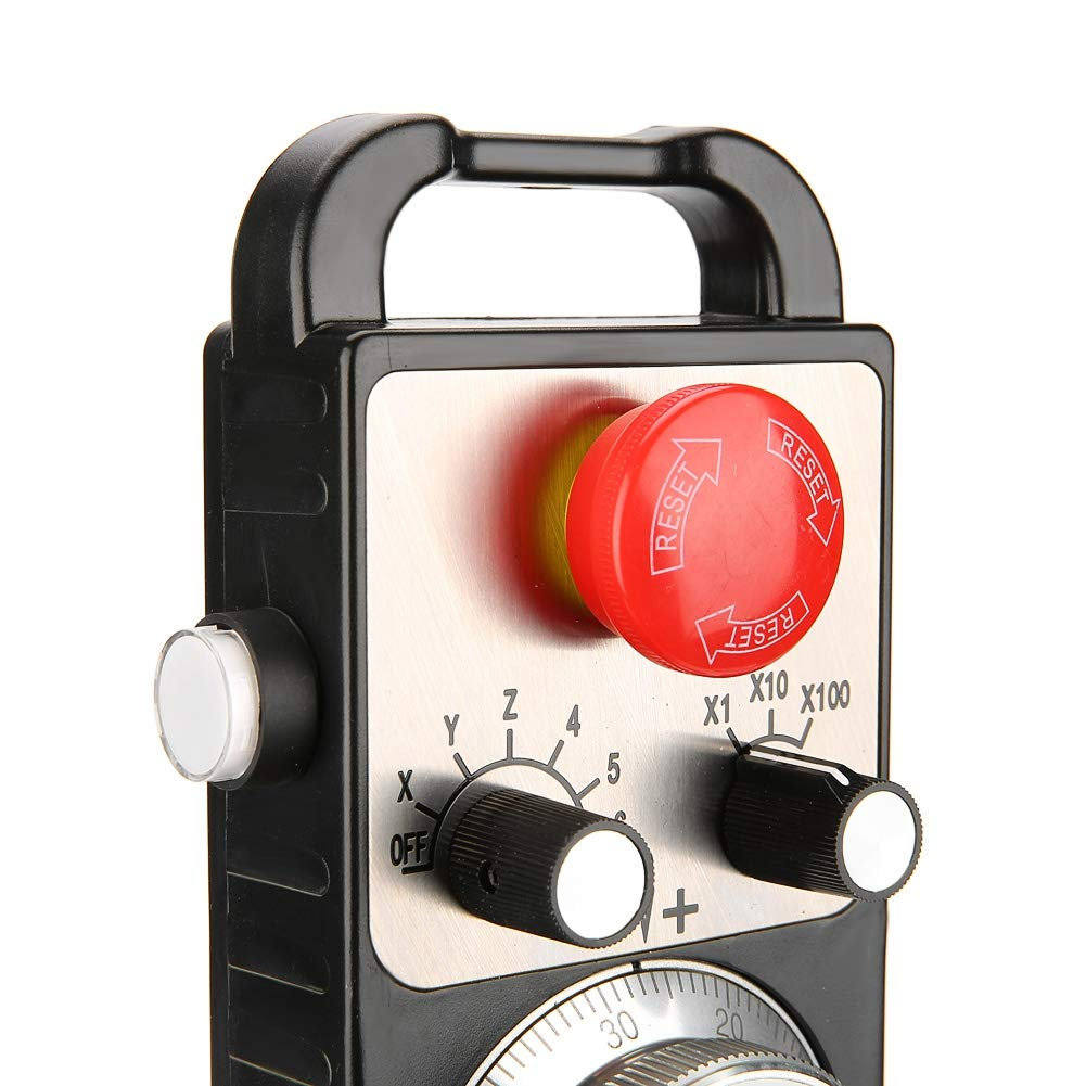 Akozon Elektronisches Handrad-Impulsgenerator CNC-Handrad 5V Universelles elektronisches Handrad-Handimpulsgenerator CNC-handlicher Pulser