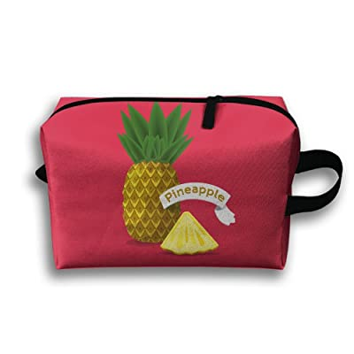 Storage Bag Travel Pouch Pineapple Purse Organizer Power Bank Data Wire Cosmetic Stationery Holder