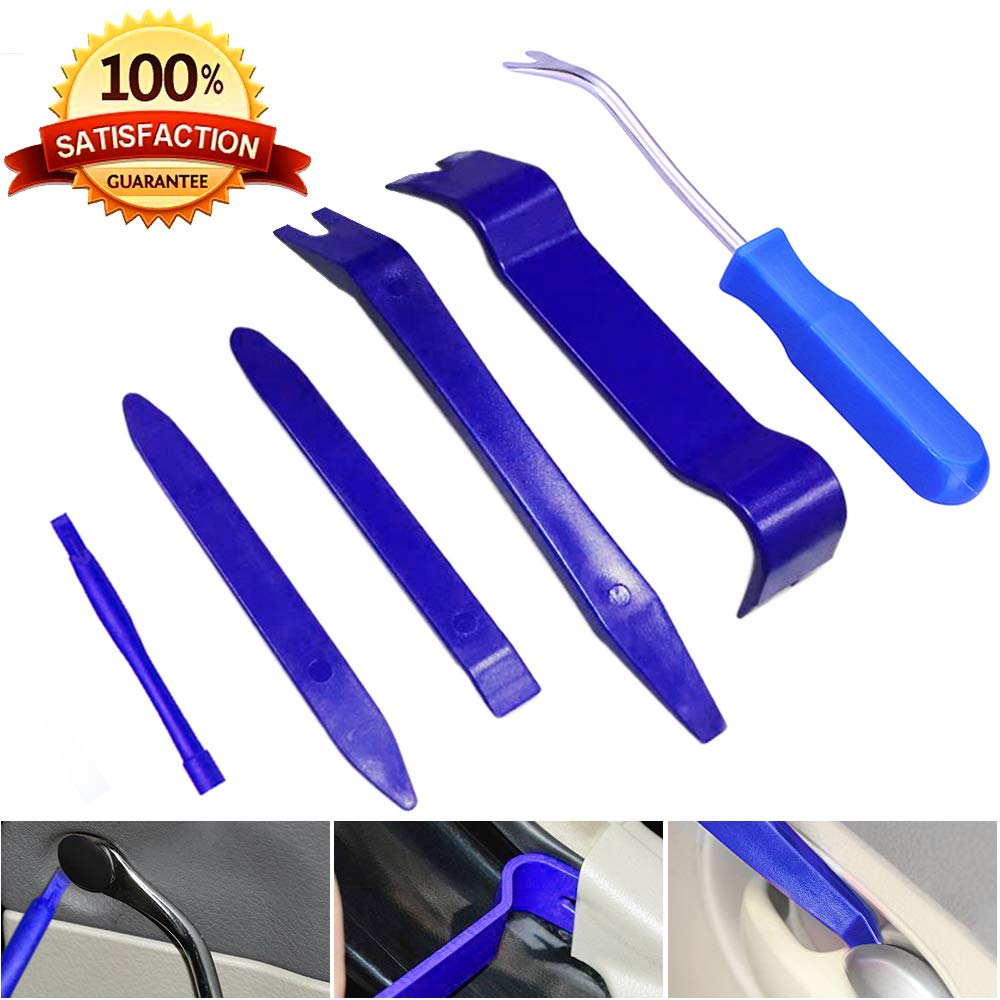 Yoohe Car Panel Removal Tools Kit - 6pcs Auto Trim Removal Tool Kit for Car Audio Dash Door Panel Molding Fastener Remover