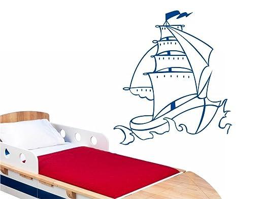 Adhesivo decorativo para pared con diseño de barco pirata con ...