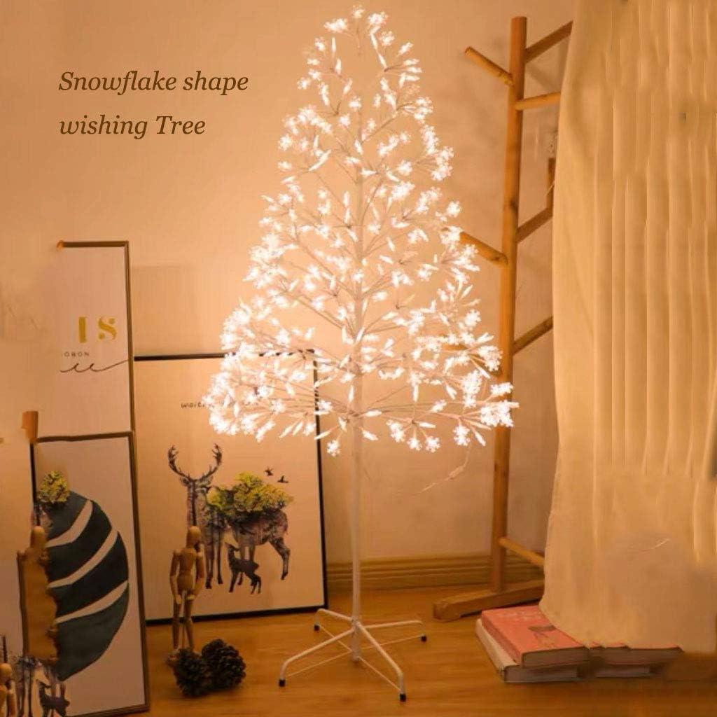 Z-HOMZYY 150cm Baum Licht LED Weihnachtsbeleuchtung - 30 Weihnachtsdekoration Anhänger - USB Powered dekorative Baum Lichter für Weihnachten Family Party Hochzeiten (Nicht dimmbar) Snowflake style